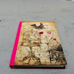 Fushia Pink Handbinded Journal1